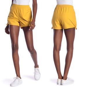 Madewell Golden Yellow Pull On Side Tie Shorts